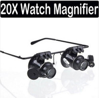 Wholesale X Magnifier Magnifying LED Light Glass Loupe Lens Eye Jeweler Watch Repair