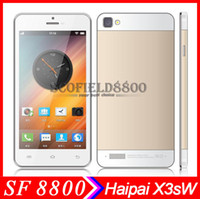 Wholesale Haipai X3sW inch MTK6582 Quad Core android phone Smartphone IPS QHD Screen GB GB MP Android4 OTG Miracast AirGesture Thin body