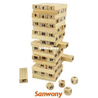 Wholesale New Arrival Blocks Dices Wooden Tumbling Stacking Jenga Tower Children Game amp