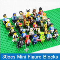 Wholesale 30pcs Different Minifigures Compatible All Brand DIY Building Block Figure Loose Brick accessory fit WOMA Sluban Wange Decool
