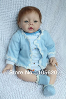 Unisex Birth-12 months Vinyl 22 inch hand made reborn baby 3 4 Vinyl arms and legs soft body baby dolls silicone babies for sale toys for girls