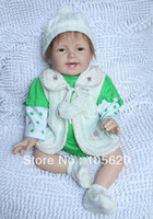Unisex Birth-12 months Vinyl Fashion Cute 22 inch Vinyl reborn baby 100% handmade baby doll toys for girls kurhn doll