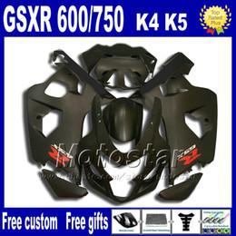 High quality Fairing kit for SUZUKI GSX-R600 GSX-R750 2004 2005 K4 all matte black fairings bodywork set GSX-R600 750 04 05 Fb81