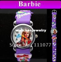 al por mayor niñas reloj de pulsera ocasional-Fresco Morado de dibujos animados en 3D de Silicona Niños Niños Niñas Preciosas de Cuarzo Informal Reloj de Pulsera Relojes