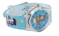 Casual Children's Water Resistant Hot! High Quality Cartoon Football Plastic Cement Band Boy Children Kid's Wrist Watch Water Resistant