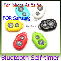 Wholesale Remote photo Camera Control Wireless Bluetooth Self timer Shutter for iPhone plus S S Galaxy S5 S4 S3 Note Android smart phone