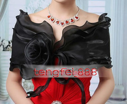 Wholesale New Arrival Black Layer Bridal Wraps amp Jackets Handmade Flower Shawl Wedding Evening Dress Accessories