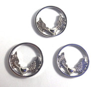 Wholesale new fashion Floating Charm Origami Owl Wings Of Love Window Plate Suitable for mm Locket Jewelry Pendant