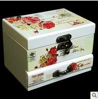 Stone Jewelry Packaging & Display White Music box jewelry box jewelry makeup girl birthday gift packaging card