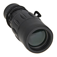 China (Mainland)   Portable High Quality 16x52 Rubber Coated Monocular Telescope - Black