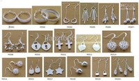 Wholesale Fashion Jewelry Manufacturer mixed a earrings sterling silver jewelry factory price Fashion