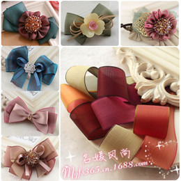 Wholesale 25mm double sided color ribbon ribbon Korean Symphony cicada class handmade hair accessories ribbon bow material supply