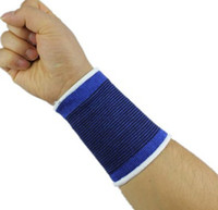 Wrist Support Yes Blue 1 pair Knitting Cotton Wrist Support Wristband Badminton Dance Tennis Ball Fitness Bicycle Sports Safety Athletic SP014