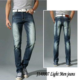 Wholesale 2014 New Spring and Summer Casual brand thin Men Jeans Vintage Designer True White washed Denim Overall Skinny Men jeans Free Ship