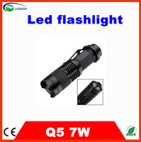 Wholesale Cost Price Mini LED Torch W LM CREE Q5 LED Adjustable Focus Zoom flash Light bright blinding effect Lamp