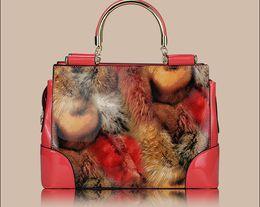 Wholesale classical style fan in Europe leopard grain type portable Shoulder Bag Handbag No