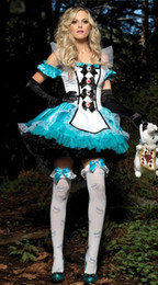 Wholesale Sexy woman Division fantasy Alice White princess dress tutu dress maid outfit maid dress Halloween costumes Cosplay