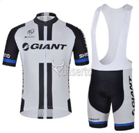 Wholesale 2014 giant cycling jersey and cycling bib short sets Black white giant cycling clothing ciclismo cycling giant cycling jersey