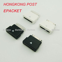 Wholesale 20pcs Female to Male Dock Extender Extension Extender Extension Adapter Sync Data Black White Colors Epacket HongKong Post