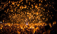 Sky Lantern Holiday Sky Lanterns Free shipping Hot sale Sky Lanterns,Wishing Lantern fire balloon Chinese Kongming lantern Wishing Lamp