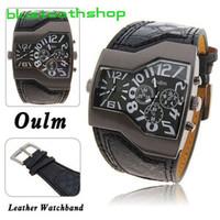 Wholesale Latest Oulm Russia Infantry Military Quartz Analog Leather Men Wrist Watch