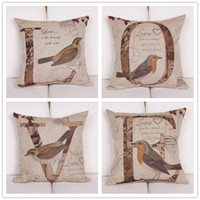 Wholesale Love birds printed home ornament pillow case cushion cover min1lot promotion Without black edging
