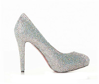 Half Boots Women PU Stunning High Heels Closed Toe Silver Rhinestone Cheap Fashion Wedding Formal Prom Cocktail Evening Party Shoes Free Shipping