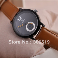 Women's Water Resistant Round JW251 2013 New Women Fashion Genuine Leather Strap Watches Luxury Big Size Japan Movement Clock SKONE Brand Watch New Clock