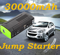 Wholesale 30000mAh Car Emergency Power Supply Mini Jump Starter Charger Battery Car Starter Laptop Mobile Phone Tablet PC Power Bank Drop Shipping