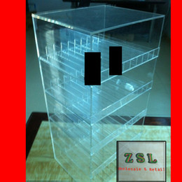 Wholesale Acrylic display box for electronic cigarette and eliquid stand box display best sale in your vape store