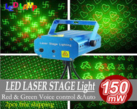 Wholesale Brand New Blue Mini LED Laser Projector DJ Disco Bar Stage House Lighting Professional stage Light Galaxy Mini Red amp Green bulb free