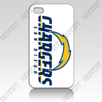 For Apple iPhone Metal Yes IZC1079San Diego Chargers 10 pcs lot case cover for iphone 4 4s 4th wholesale retail free shipping for bulk order