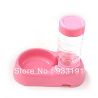 Feeding & Watering Supplies LX0126 Dogs 10 Pcs lot Pet Dog Cat Automatic Bottle Dish Bowl Water Drinking Dispenser Feeder Fountain Free Shipping&Drop Shipping