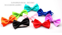 Wholesale Hot Sales Dog Neck Tie Dog Bow Tie Cat Tie Supplies Pet Headdress adjustable bow tie