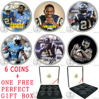Metal Yes Coin SYP097 LADAINIAN TOMLINSON COLOR GLAZE COIN 6 COIN SET WHOLESALE FREE SHIPPING FOR BULK ORDER ACCEPT CUSTOM