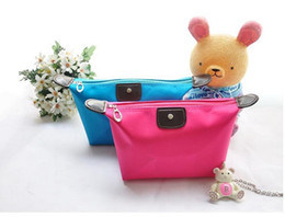 Wholesale women s cosmetic bag large capacity cosmetic case candy color nylon cosmetic box waterproof makeup bao cm