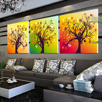 Metal Christmas Bowl 3 piece wall art home decoration modern abstract canvas living room wall pictures wall panel art