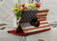 9.7'' apple smart case uk - Retro UK US Flag PU Leather Case Degree Rotary Rotating Smart Cover for iPad Air ipad mini Sleep Wake Up Flip Cases Stand Holder