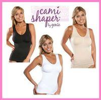 Wholesale Big discount Women Genie Bra Cami Shaper Full Body Slimmer Tummy Trimmer Slimming Shapewear Black Khaki White K07707