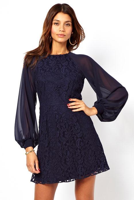 Latest Fashion Women Dresses Sexy Lace Vintage Dress With Blouson ...