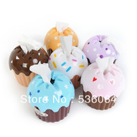 Wholesale Cute HOT Kawaii Ice Cream Cupcake Cake Tissue Box Towel Holder Paper Container Dispenser Cover Freeshipping