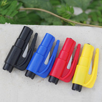 Wholesale Outdoor JAUNT seatbelt cutter window broken Equipment safety Hammer Keyring