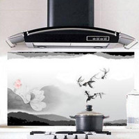 Wholesale Min order is Quality aesthetic oil kitchen stickers ink and wash painting oil pollution b473