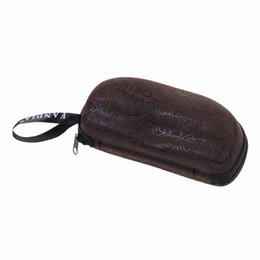 Wholesale New EVA Glasses Case Coffee Portable Eyeglasses Accessories With Zipper Box ZTZ2