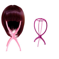 Wholesale S5Q Folding Plastic Stable Durable Wig Hair Hat Cap Holder Stand Display Tool AAADEA