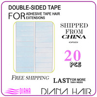 Wholesale 4cm cm Double Sided Adhesive Italian Glue Blue Tape In PU Skin Weft Made Hair Extension Tape Skin Weft Tape Hair Adhesive Tape