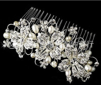 Hair Combs bridal hair accessories - Best Selling New Shining Bridal Hair Accessories With Crystal Pearl Handwork Bridal Combs For Wedding Dresses Hair Accessories Hot