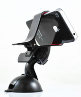 Wholesale 50pcs Universal Windshield Degree Rotating Car Mount Bracket Holder Stand for iPhone Samsung Cellphone GPS MP4 PDA tablet
