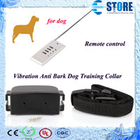 barking in dogs - Hot Welcomed In Europe Vibration Anti Bark Dog Training Collar no barking collar Remote Control Sound wu