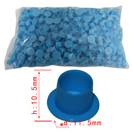Wholesale 1000Pcs Large Blue Plastic Tattoo Self standing Ink Pigment Cup Cap Holder Supply Tattoo Accessory